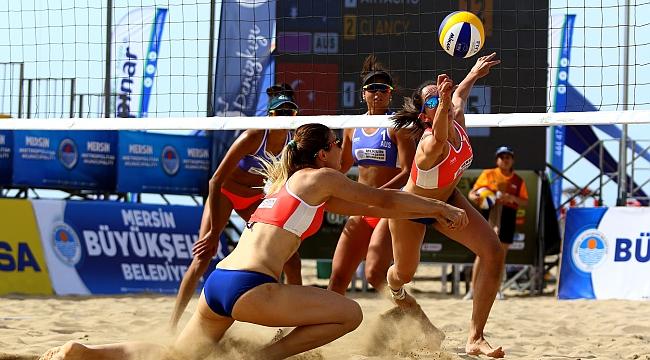 FIVB Plaj Voleybolu Dünya Turu Mersin etabı devam ediyor