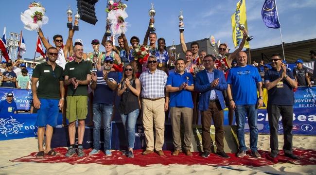 Plaj Voleybolu Dünya Turu 1 Yıldızlı Aydın Etabı Tamamlandı