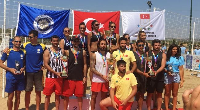 Üniversiteler Plaj Voleybolu Şampiyonası tamamlandı