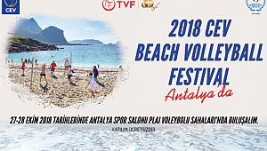 2018 CEV Plaj Voleybolu Festivali 27-28 Ekim'de Antalya'da!