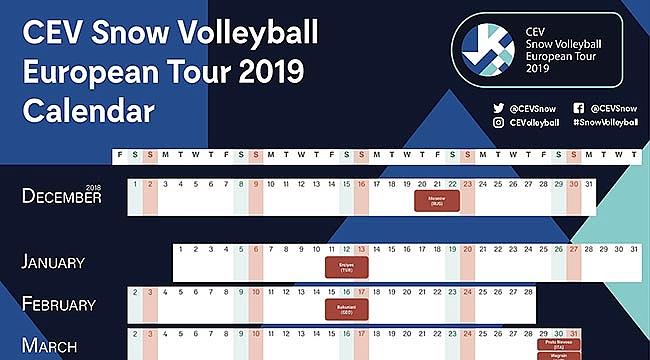 CEV, 2019 Kar Voleybolu Avrupa Turu Takvimini Açıkladı