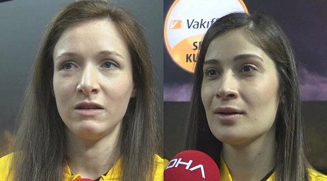 VakıfBanklı Lonneke Sloetjes ve Tuğba Şenoğlu'ndan flaş açıklamalar