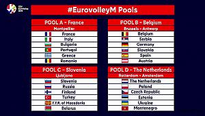 Erkek Voleybol A Milli Takımı'nın, Avrupa Şampiyonası'ndaki rakipleri belli oldu