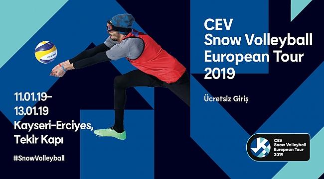 2019 CEV Kar Voleybolu Avrupa Turu Erciyes'te Başlıyor