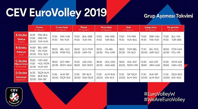 CEV EuroVolley 2019'daki Maç Programı Belli Oldu