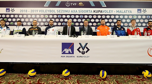 AXA Sigorta Kupa Voley Erkekler Final Etabı Basın Toplantısı Gerçekleşti