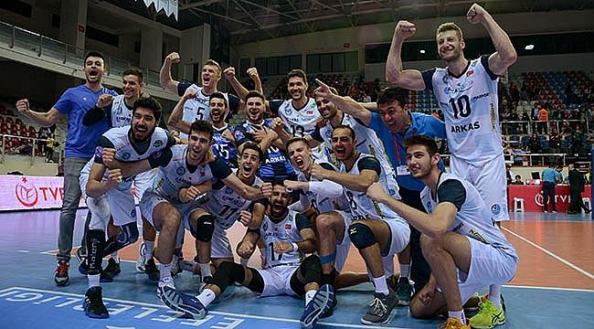 Arkas Spor, Galatasaray'ı yenerek finale yükseldi.