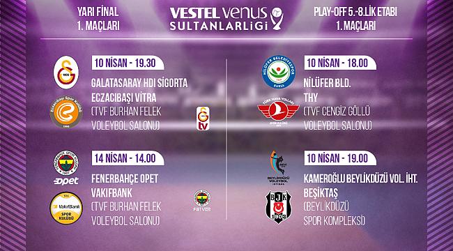 Sultanlar Ligi Yarı Final ve 5/8.'lik Etabı Başlıyor
