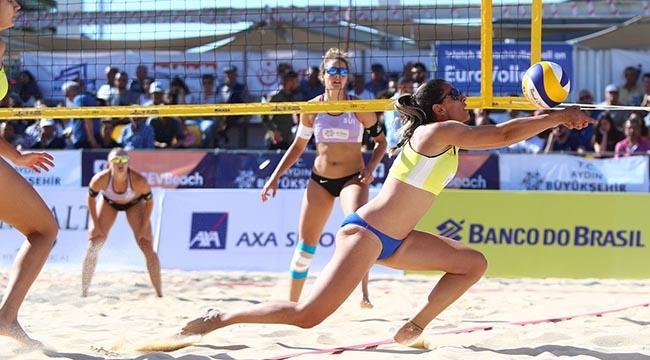 FIVB Plaj Dünya Turu Aydın Etabı'nda 2. Gün Sona Erdi