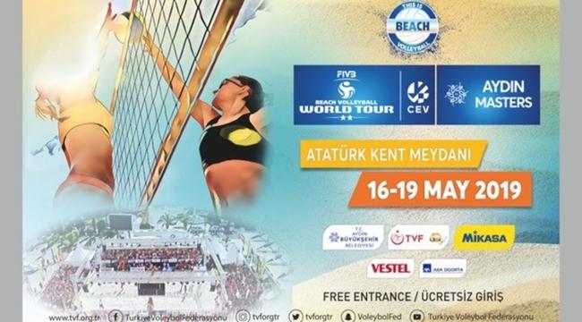 FIVB Plaj Voleybolu Dünya Turu 2 Yıldızlı Aydın Etabı Başlıyor