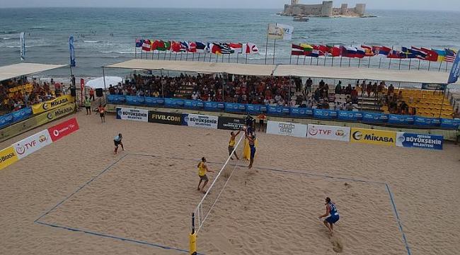 Plaj Voleybolu Dünya Turu Aydın etabı başladı