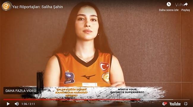 Eczacıbaşı'nın genç smaçörü Saliha Şahin'i kendisinden dinleyin!