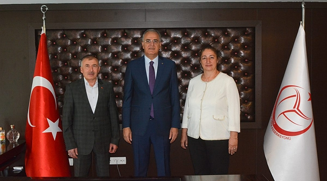 Hacer Akyüz, TVF Başkanı Üstündağ'ı Ziyaret Etti