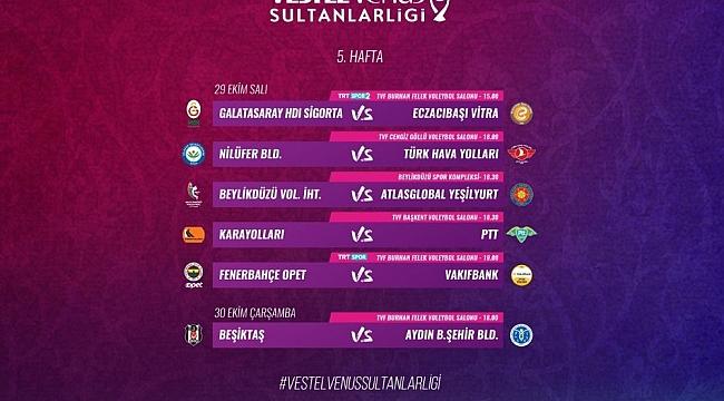 Sultanlar Ligi'nde 5. Hafta Başlıyor