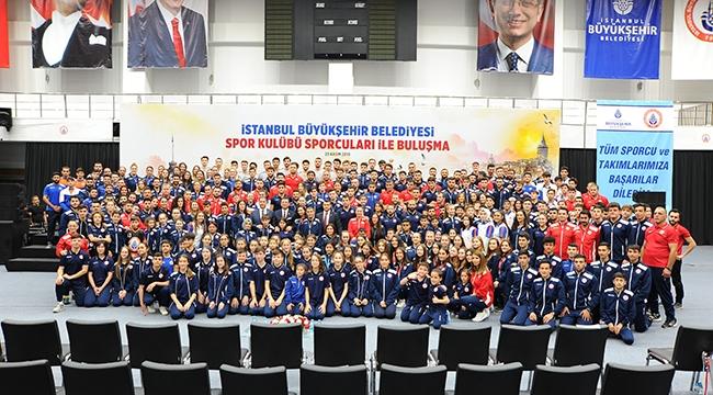 İmamoğlu, İstanbul BBSK'lı sporcularla buluştu
