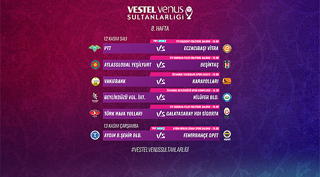 Sultanlar Ligi'nde 8. hafta heyecanı