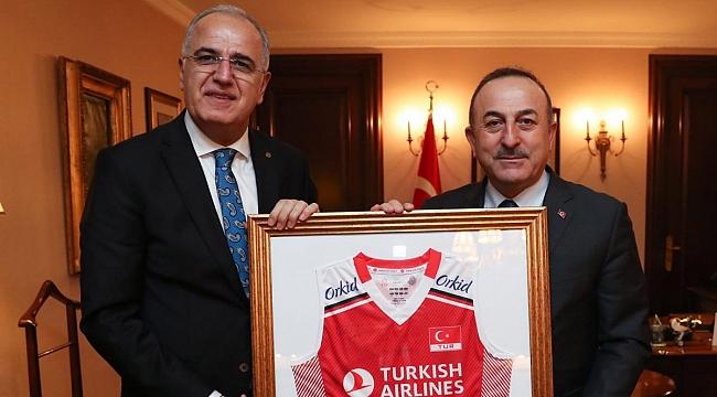Üstündağ, Çavuşoğlu'nu Ziyaret Etti