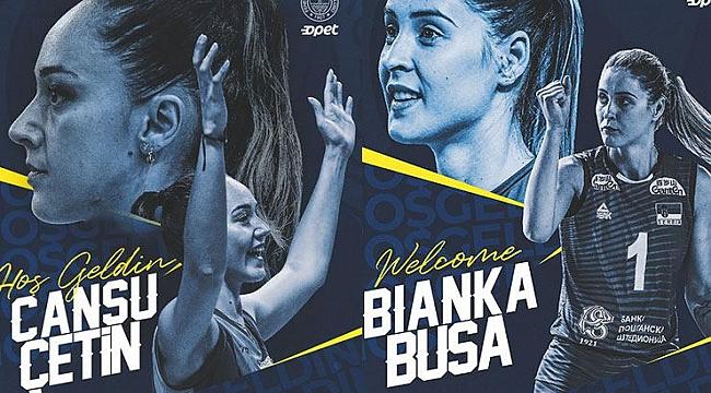 Fenerbahçe Opet, Bianka Busa ve Cansu Çetin'i kadrosuna dahil etti