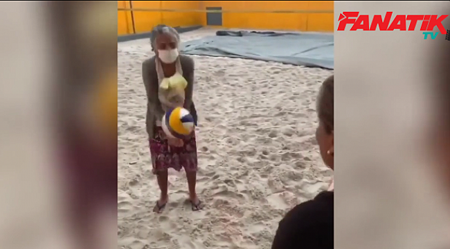 Brezilyalı Dona Edita, 98 yaşında voleybol öğrenmeye karar verdi!