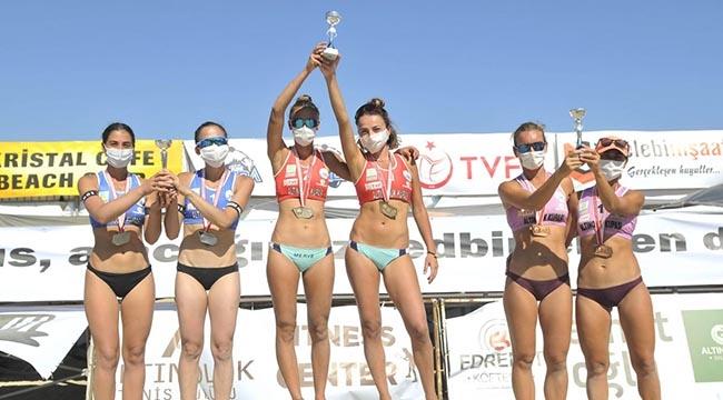 TVF Pro Beach Tour Altınoluk Kupası'nda şampiyonlar belli oldu