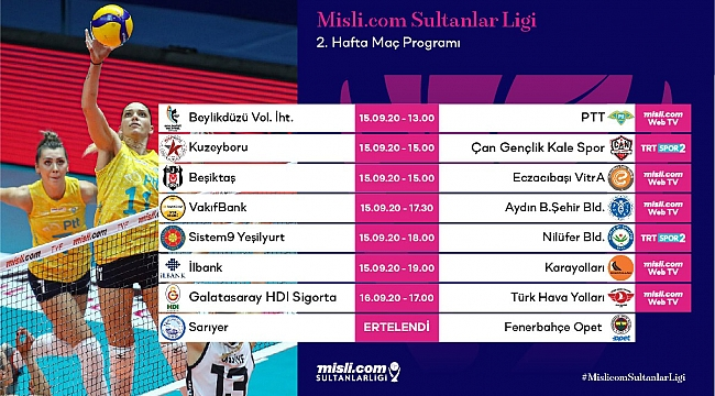 Misli.com Sultanlar Ligi 2. Hafta Başlıyor