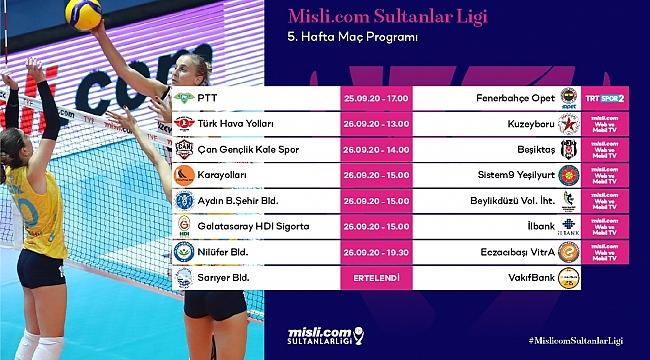 Misli.com Sultanlar Ligi'nde 5. Hafta Başlıyor