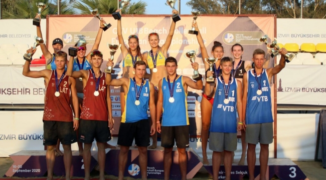 Plaj Voleybolunda Avrupa Şampiyonası tamamlandı