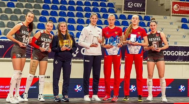 Ege Melisa Bükmen, Pelin Eroktay ve Özge Arslanalp, Avrupa Şampiyonası'nda Rüya Takım'da
