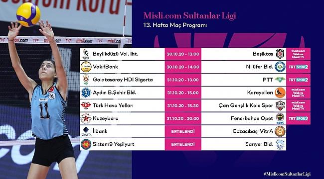 Misli.com Sultanlar Ligi'nde 13. Hafta Başlıyor