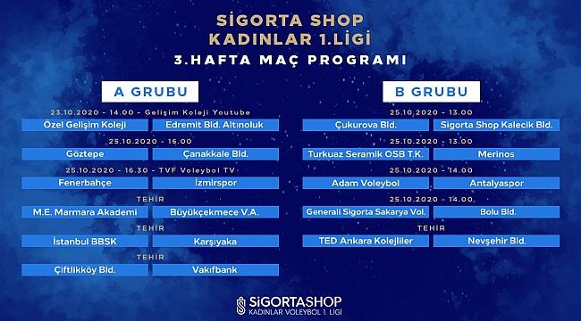 Sigorta Shop Kadınlar 1. Ligi'nde 3. Hafta Başlıyor