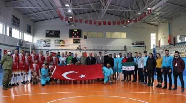 Barış Pınarı bölgesinde voleybol maçı
