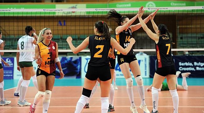 Galatasaray HDI Sigorta, Ukrayna'dan Galibiyetle Dönüyor