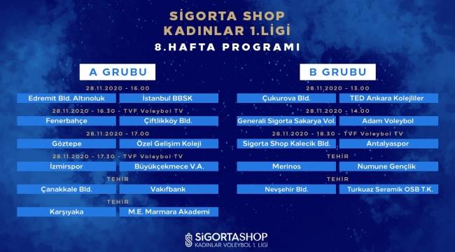 Sigorta Shop Kadınlar 1. Ligi'nde 8. Hafta Başlıyor