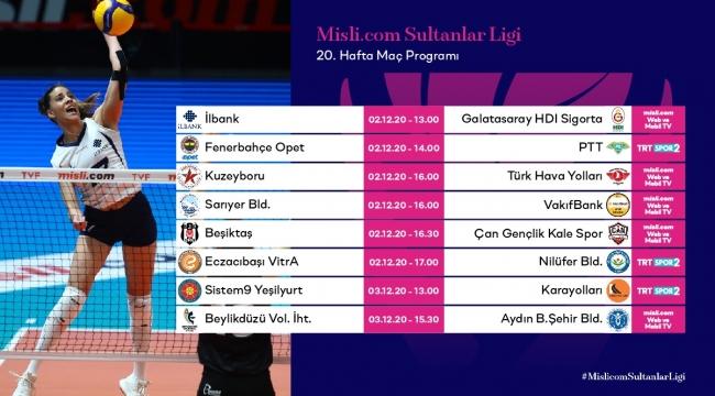 Misli.com Sultanlar Ligi'nde 20.Hafta Başlıyor