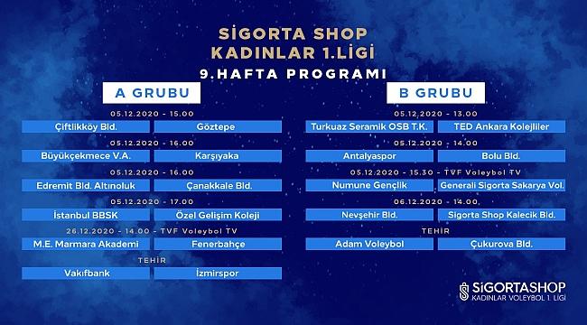 Sigorta Shop Kadınlar 1. Ligi'nde 9. Hafta Başlıyor