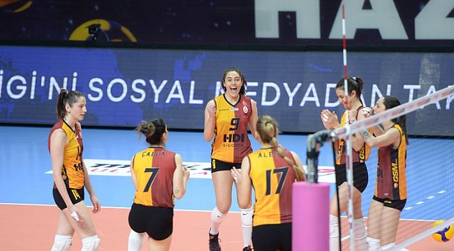 Galatasaray, konuk ettiği Çan Gençlik Kalespor'a set vermedi