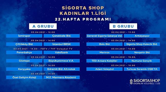 SigortaShop Kadınlar 1.Ligi'nde 22.Hafta Başlıyor