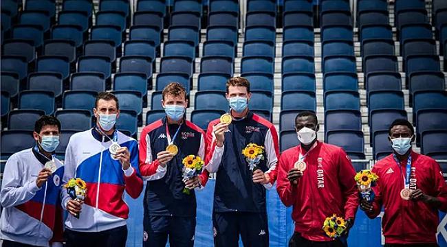 Erkekler plaj voleybolunda altın madalyayı Norveç kazandı