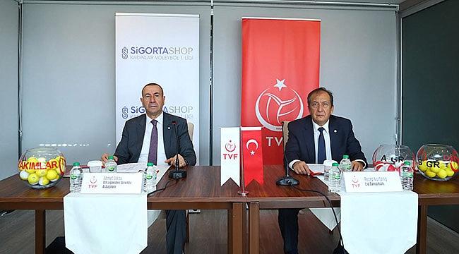 Sigorta Shop Kadınlar 1. Ligi'nde 2021-2022 Voleybol Sezonu Fikstürü Çekildi