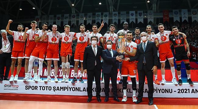 2021 Spor Toto Şampiyonlar Kupası'nda Şampiyon Ziraat Bankkart